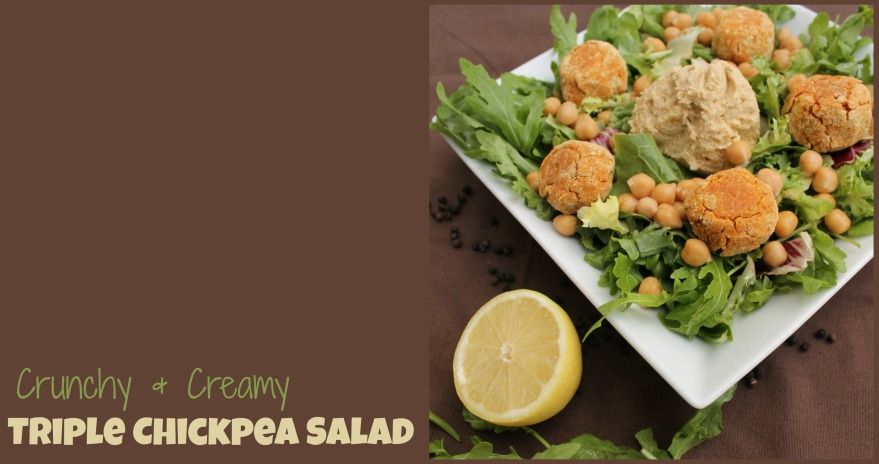 triple chickpea salad
