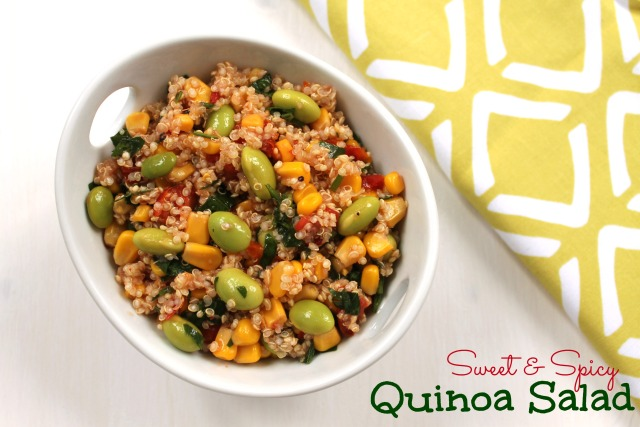 sweet & spicy quinoa salad