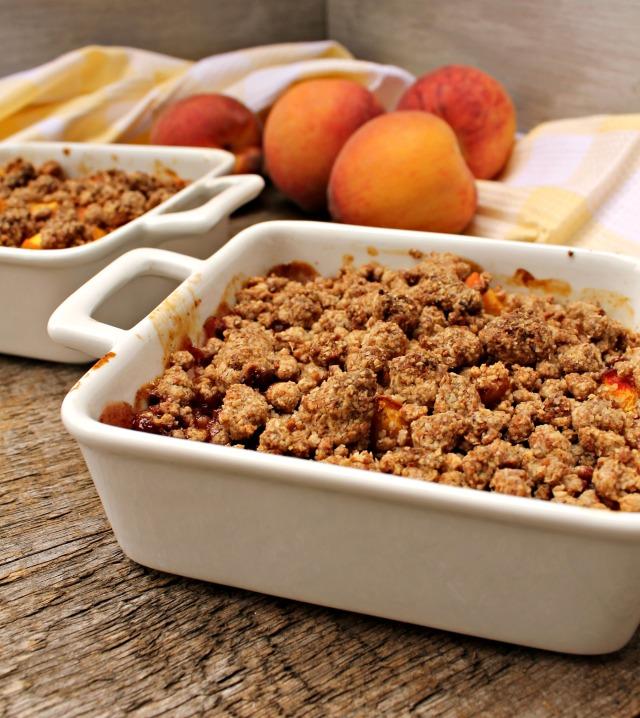 Vegan Peach Crumble 4